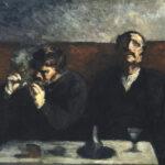 Honoré Daumier - Raucher und Absinthtrinker